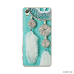 DREAM CATCHER WITH WHITE LEATHER - Sony Xperia X