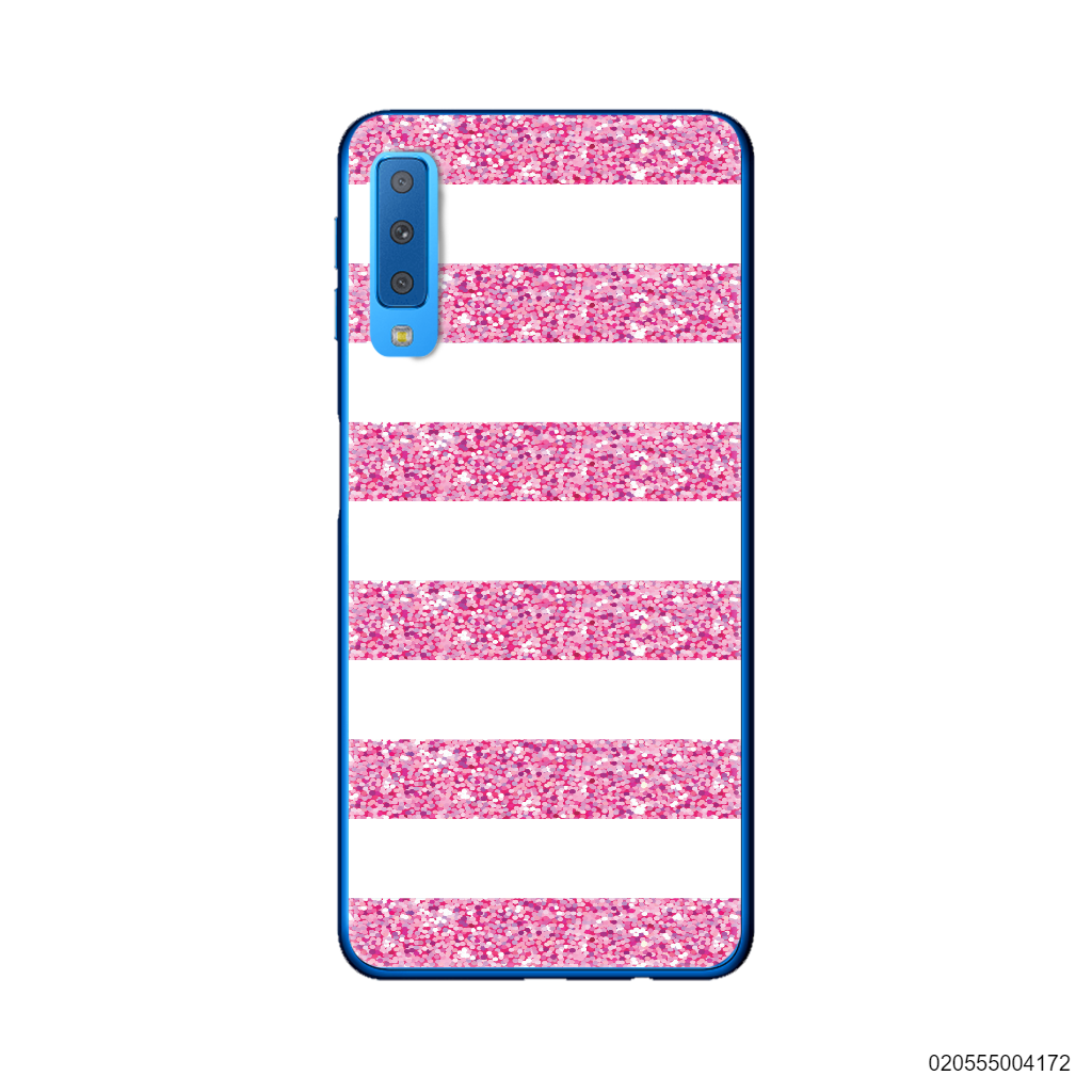 PINK STRIPES WITH SPARKLERS - Samsung Galaxy A7 2018