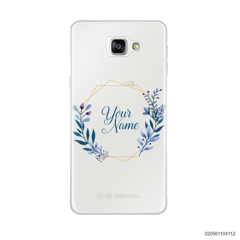 CUSTOMIZE BLUE LEAVES FRAME - Samsung Galaxy A9 Pro