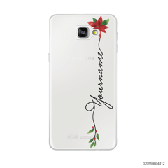 CUSTOM WITH CHRISTMAS LEAVES - Samsung Galaxy A9 Pro