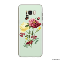 PEONY BOUQUET ON LIGHT GREEN THEME - Samsung Galaxy S8