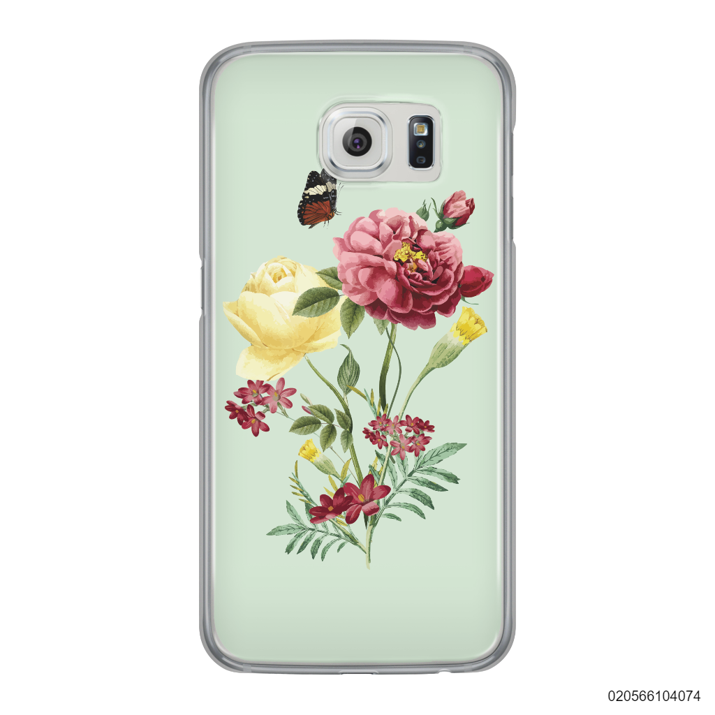 PEONY BOUQUET ON LIGHT GREEN THEME - Samsung Galaxy S6 Edge