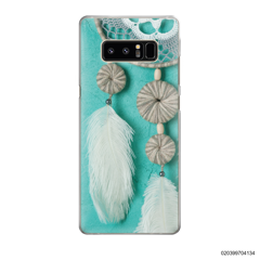 DREAM CATCHER WITH WHITE LEATHER - Samsung Galaxy Note 8