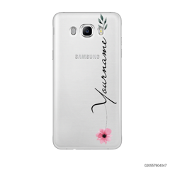 CUSTOM YOUR NAME WITH PINK FLOWER - Samsung Galaxy J7 2016