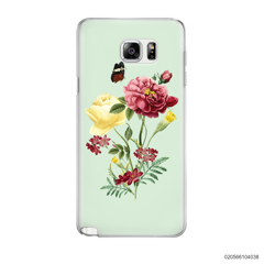 PEONY BOUQUET ON LIGHT GREEN THEME - Samsung Galaxy Note 5