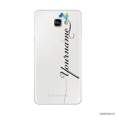 CUSTOM YOUR NAME WITH BLUE ROSE - Samsung Galaxy A9 Pro