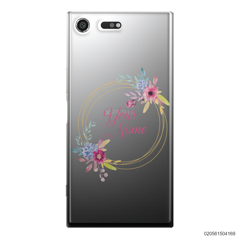 CUSTOMIZE WITH COLORFULL FLOWERS FRAME - Sony Xperia XZ Premium