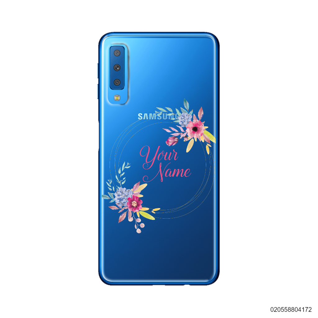 CUSTOMIZE WITH COLORFULL FLOWERS FRAME - Samsung Galaxy A7 2018