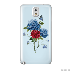 BLUE PEONY BOUQUET ON BLUE THEME - Samsung Galaxy Note 3