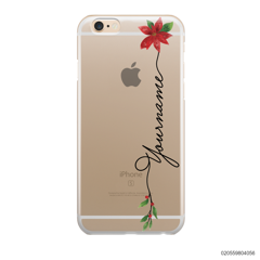 CUSTOM WITH CHRISTMAS LEAVES - IPhone 6/6s Plus