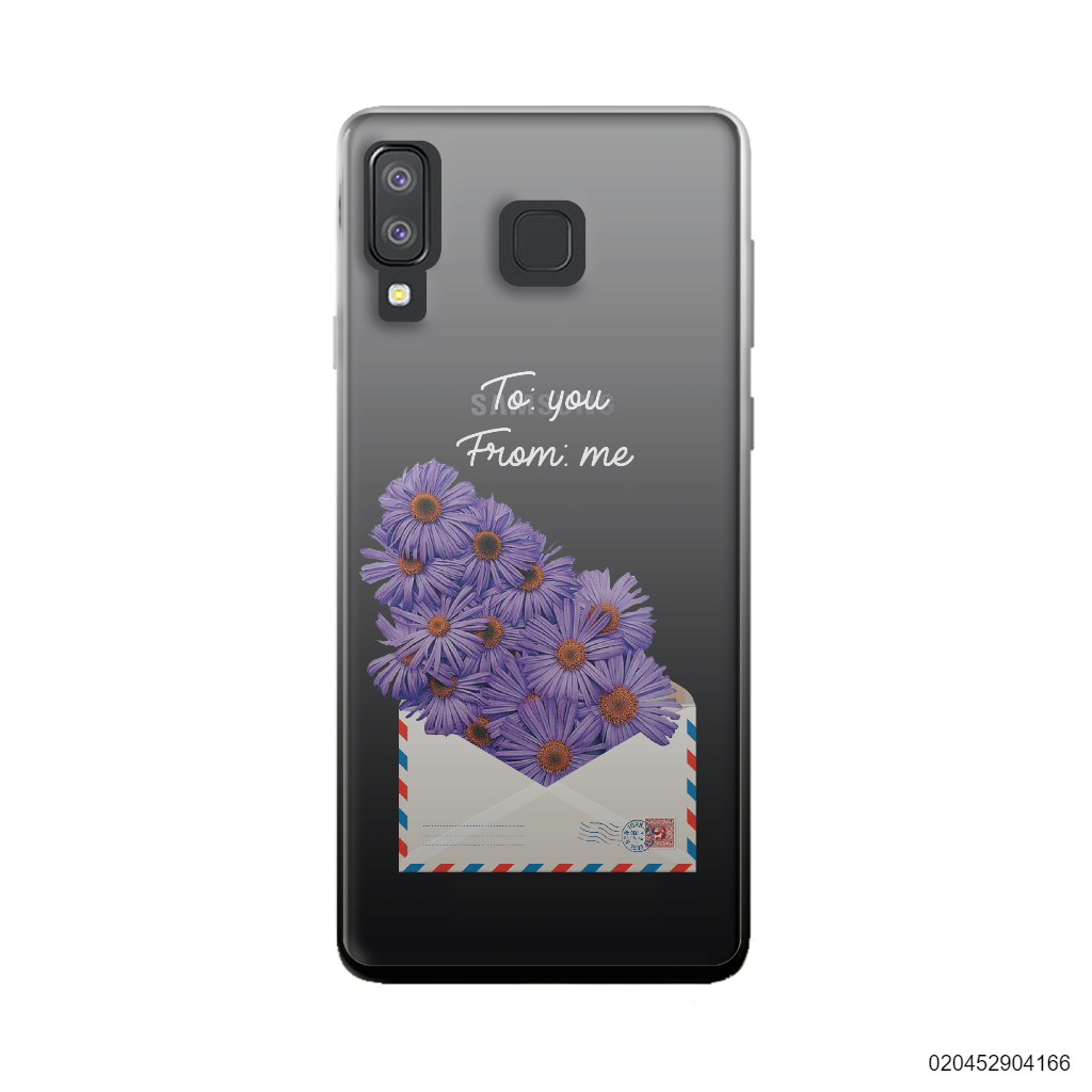 PURPLE DAISY IN LOVE LETTER - Samsung Galaxy A8 Star