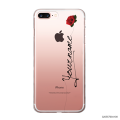 CUSTOM YOUR NAME WITH RED ROSE - iPhone 7 plus