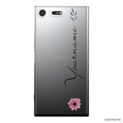 CUSTOM YOUR NAME WITH PINK FLOWER - Sony Xperia XZ Premium