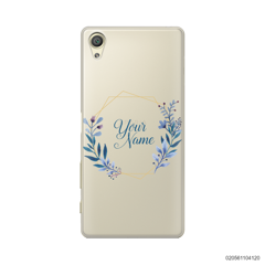 CUSTOMIZE BLUE LEAVES FRAME - Sony Xperia X