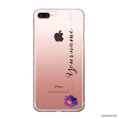 CUSTOM YOUR NAME WITH PURPLE FLOWER - iPhone 7 plus