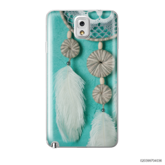 DREAM CATCHER WITH WHITE LEATHER - Samsung Galaxy Note 3