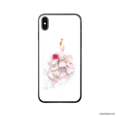 GIRL IN BEAUTIFUL PEONY ROSE DRESS - Iphone X/ Xs