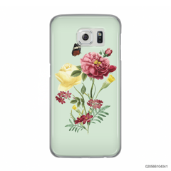 PEONY BOUQUET ON LIGHT GREEN THEME - Samsung Galaxy S6