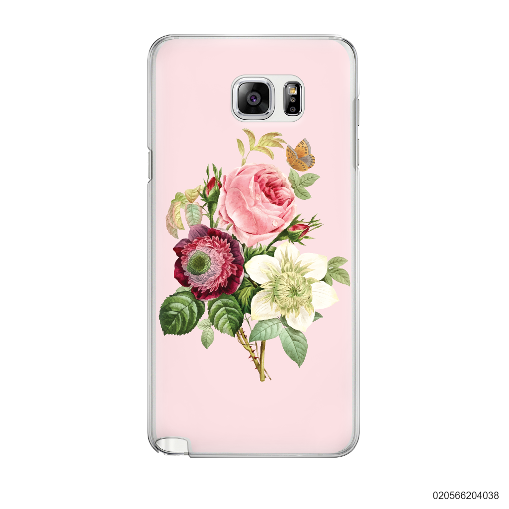 PEONY BOUQUET ON PINK THEME - Samsung Galaxy Note 5