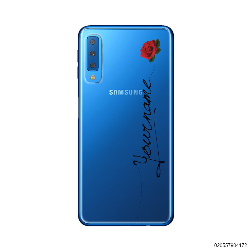 CUSTOM YOUR NAME WITH RED ROSE - Samsung Galaxy A7 2018