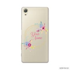 CUSTOMIZE WITH COLORFULL FLOWERS FRAME - Sony Xperia X