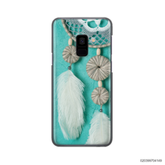 DREAM CATCHER WITH WHITE LEATHER - Samsung Galaxy A8 Plus 2018