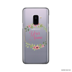 CUSTOMIZE LOVELY FLOWERS FRAME - Samsung Galaxy A8 Plus 2018