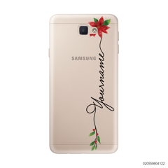 CUSTOM WITH CHRISTMAS LEAVES - Samsung Galaxy J5 Prime