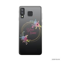 CUSTOMIZE WITH COLORFULL FLOWERS FRAME - Samsung Galaxy A8 Star