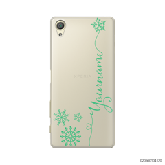 CUSTOM WITH SNOWFLAKES - Sony Xperia X