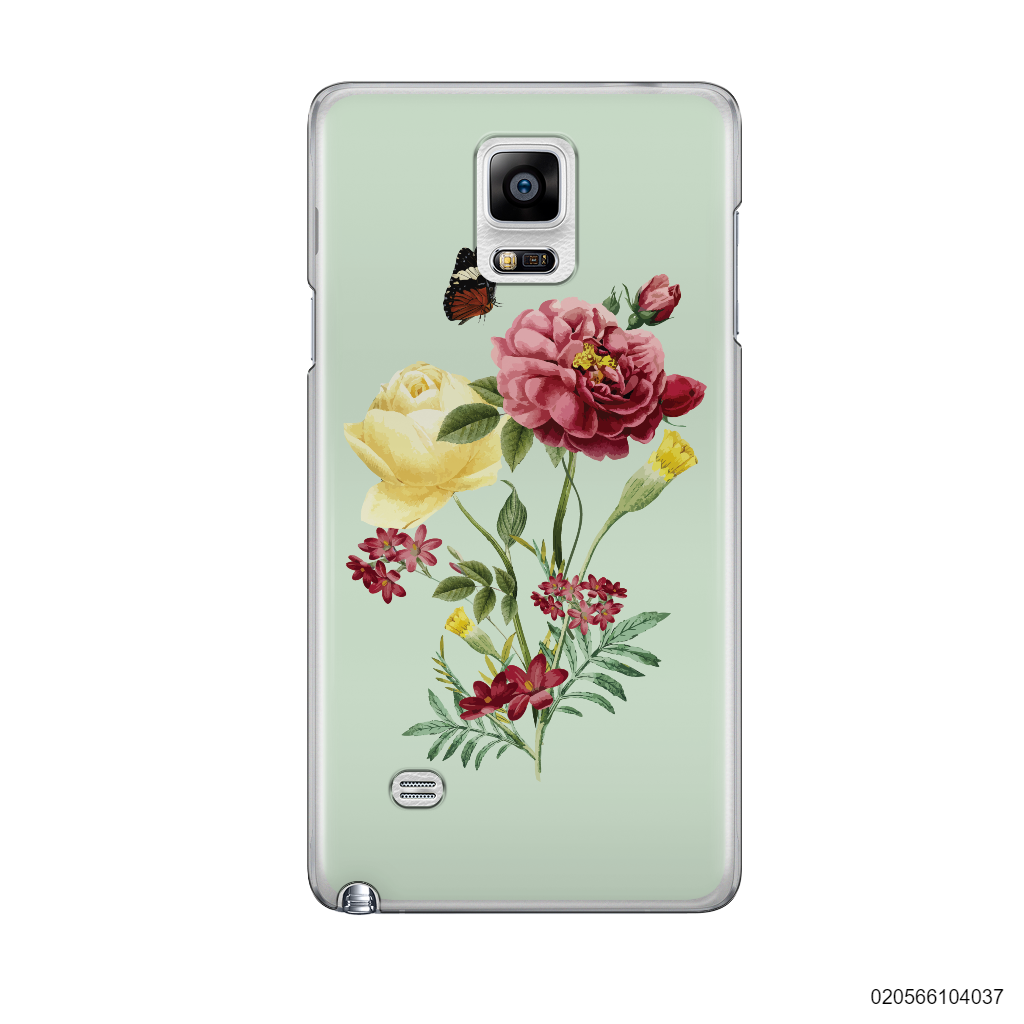 PEONY BOUQUET ON LIGHT GREEN THEME - Samsung Galaxy Note 4
