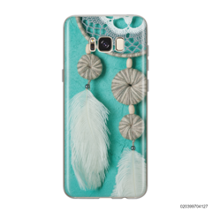 DREAM CATCHER WITH WHITE LEATHER - Samsung Galaxy S8