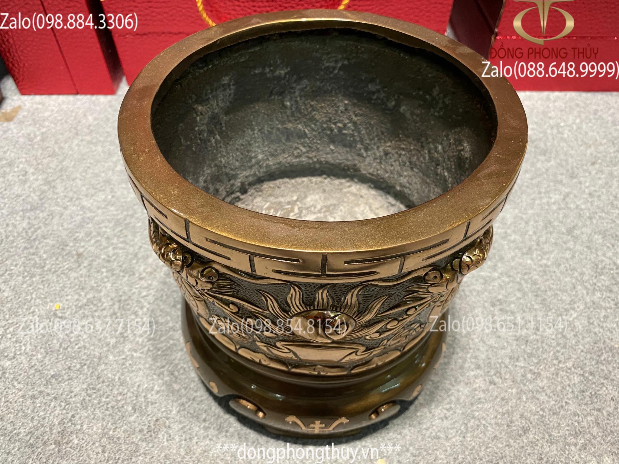 Bát hương đồng đỏ 20cm - Giá bát hương đồng