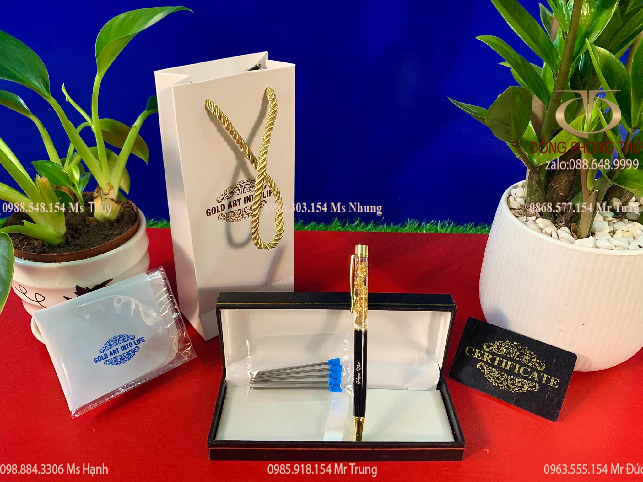 Quà tặng sếp: bút ký mạ vàng cao cấp khắc tên