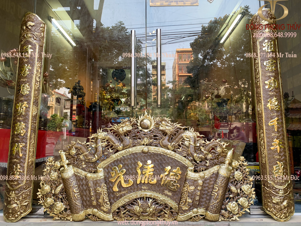 Cuốn thư câu đối 1m55 Đức Lưu Quang