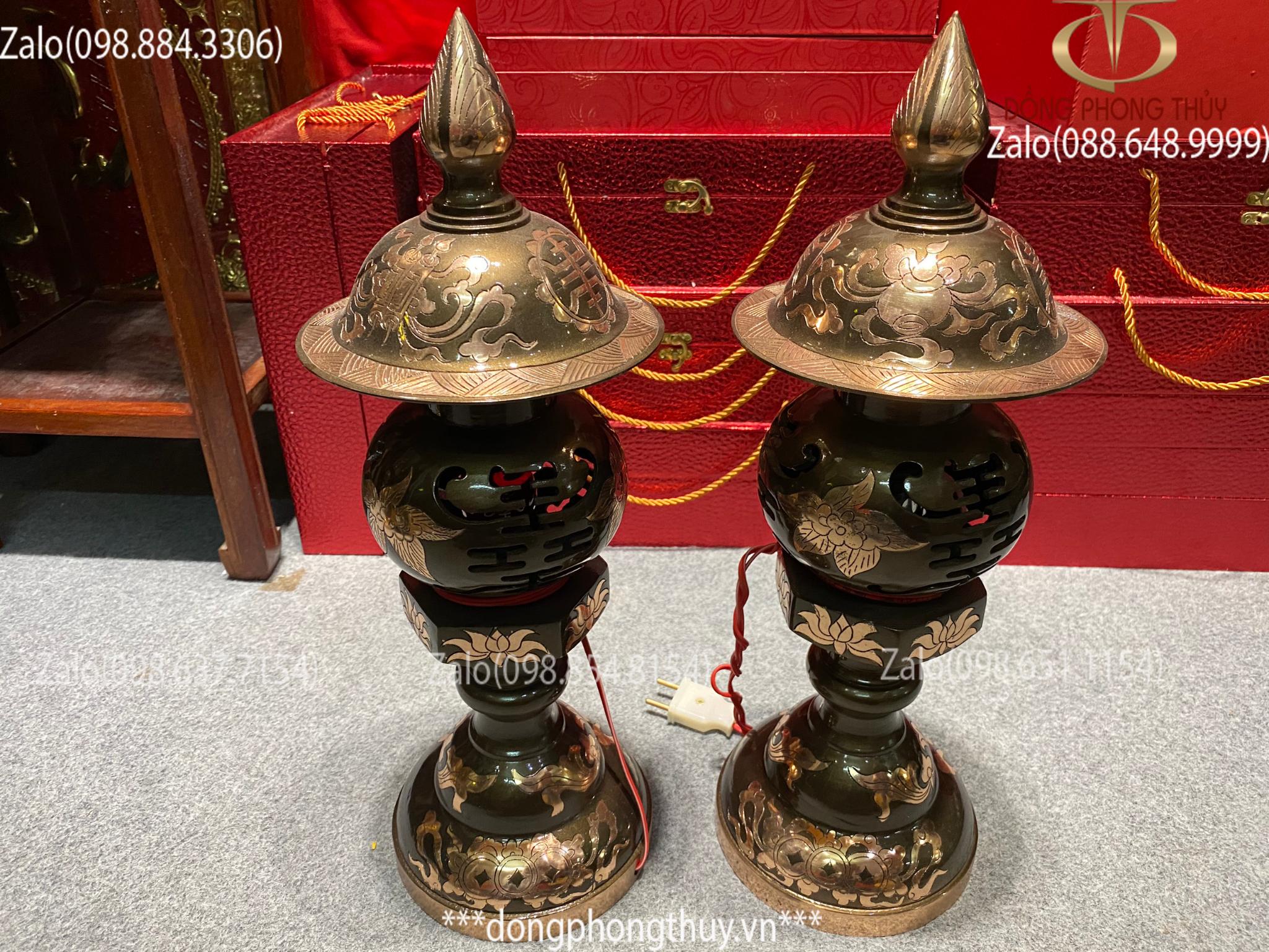 Đèn thờ bằng đồng đèn thờ cao cấp đèn thờ đồng đèn thờ cúng bộ đèn thờ