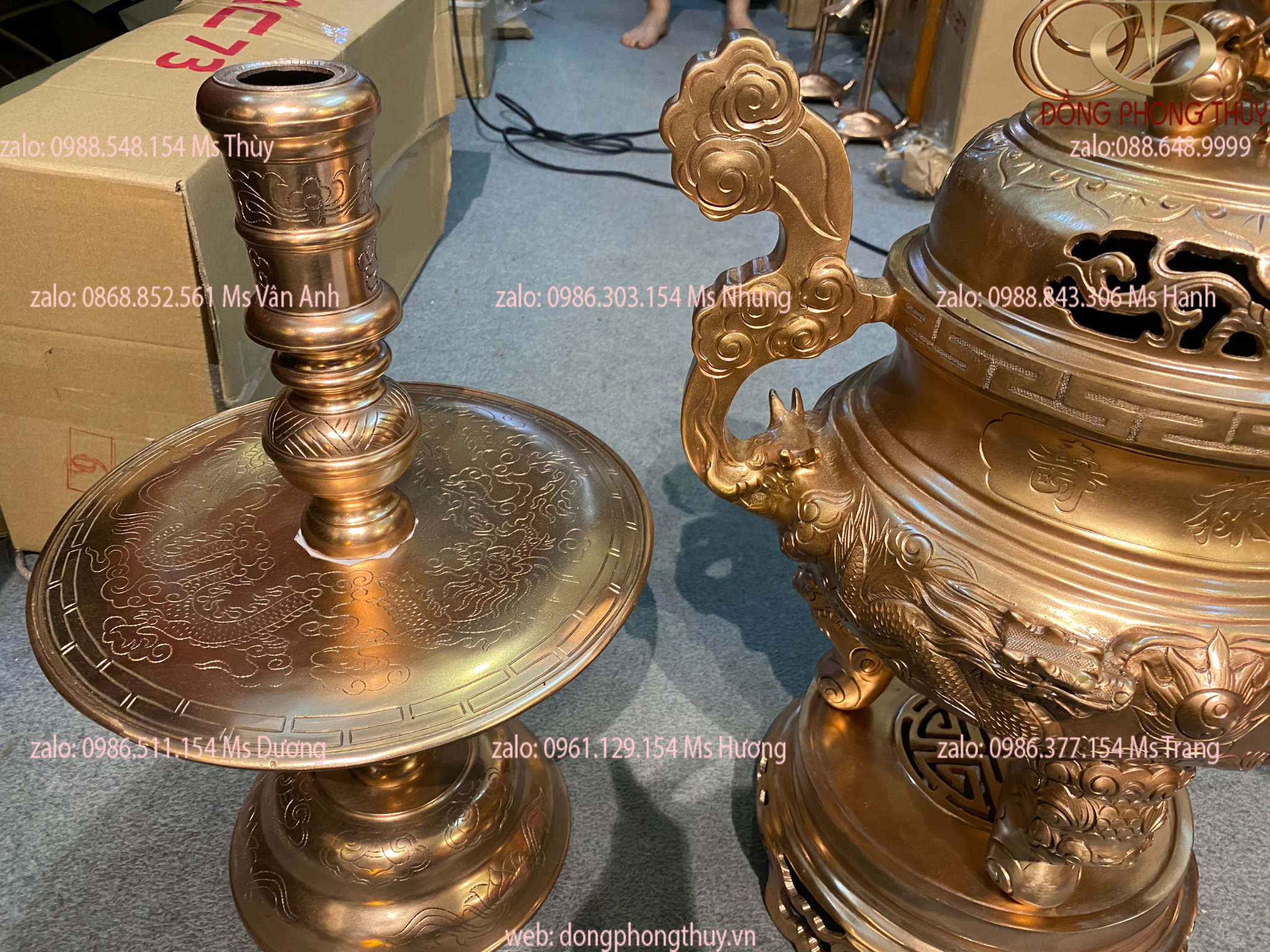 Bộ tam sự bộ tam sự đồng bộ tam sự bằng đồng cao 60cm nặng 31kg