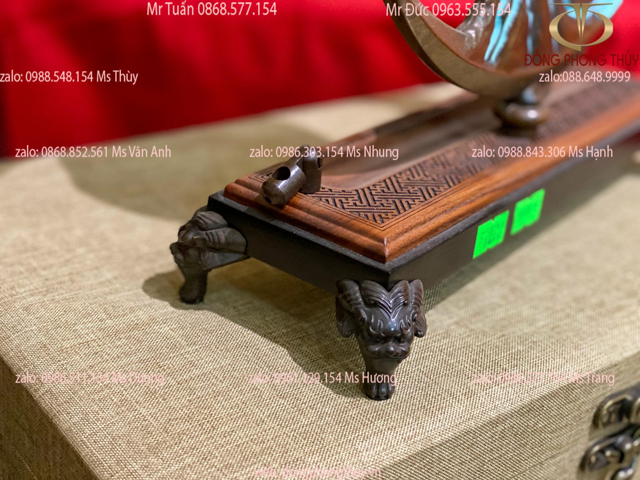 Bộ ngai 5 chén bằng đồng màu hun ngai 29cm