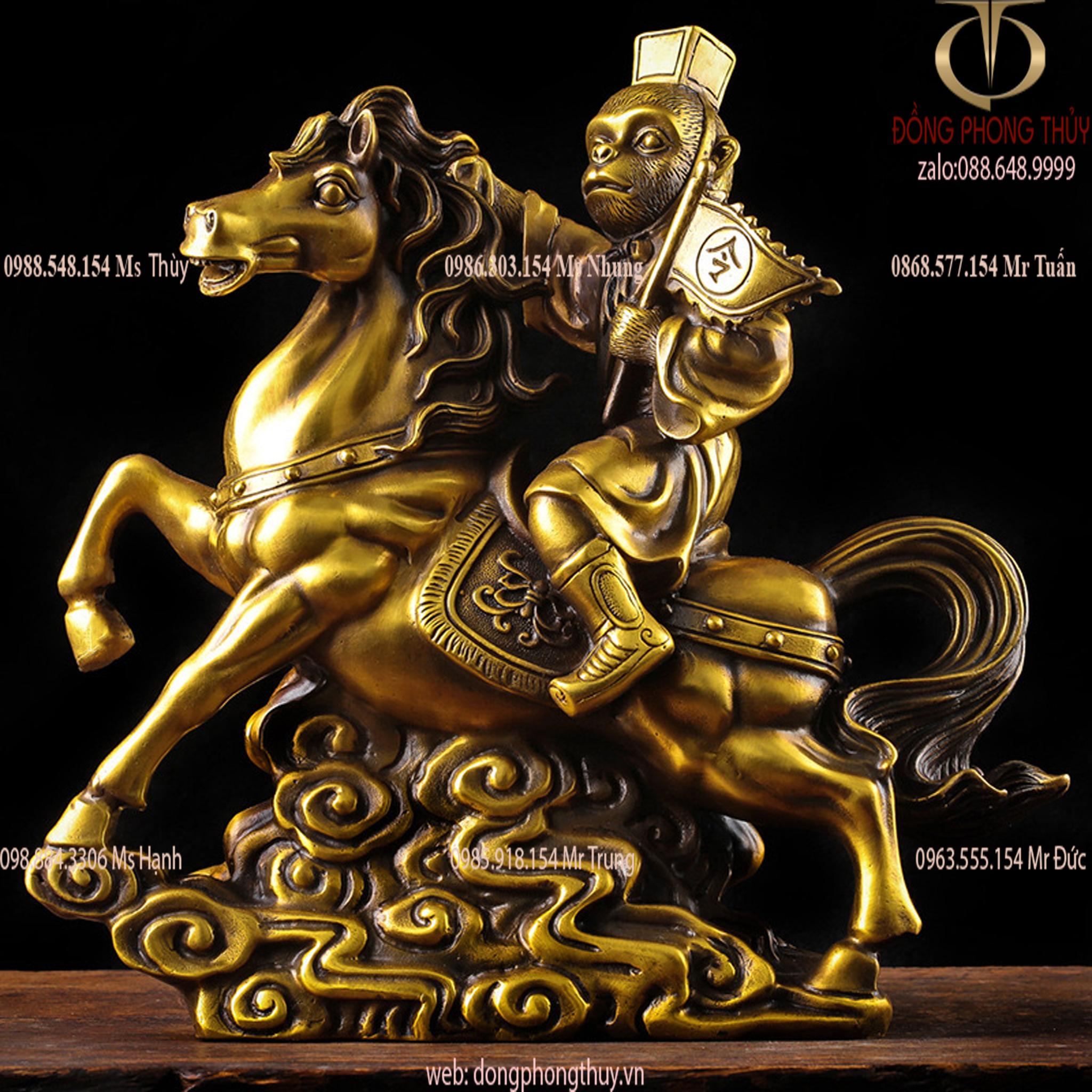 Tượng mã thượng phong hầu khỉ cưỡi ngựa