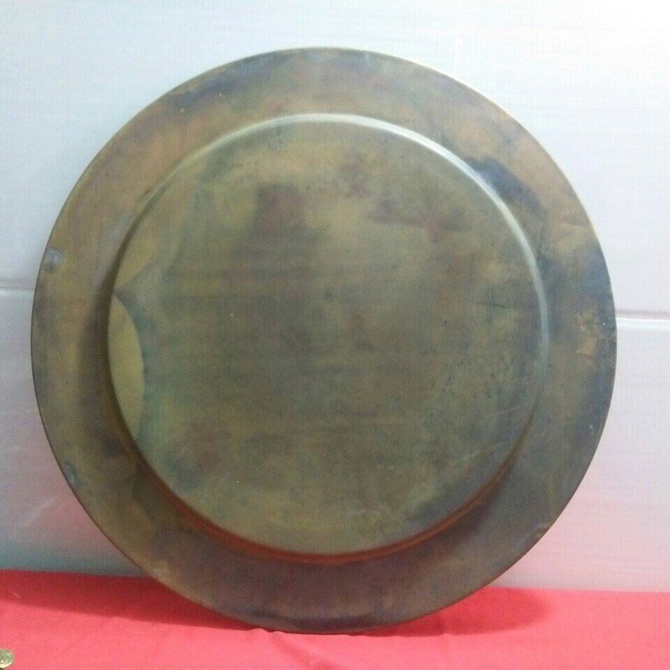Mâm đồng trơn đại bái 52cm nặng 2kg