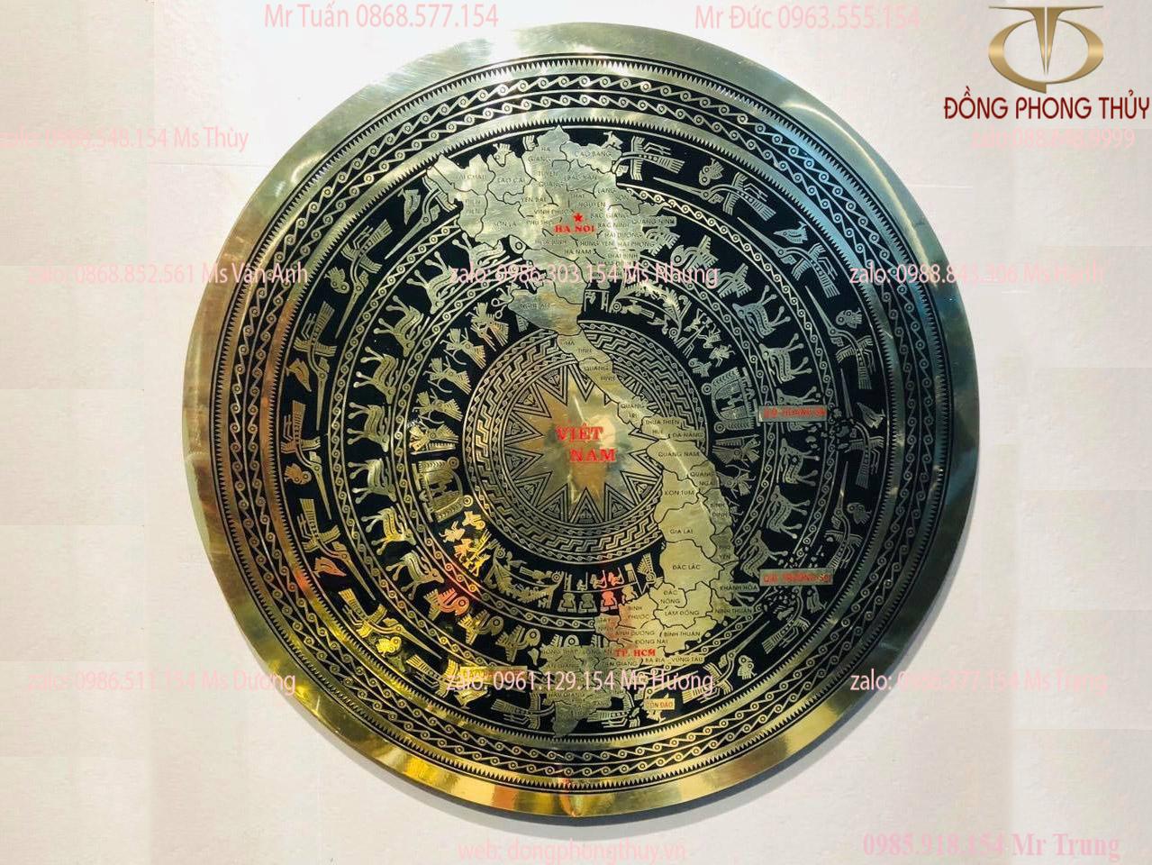 Mặt trống đồng Đông Sơn bản đồ Việt Nam