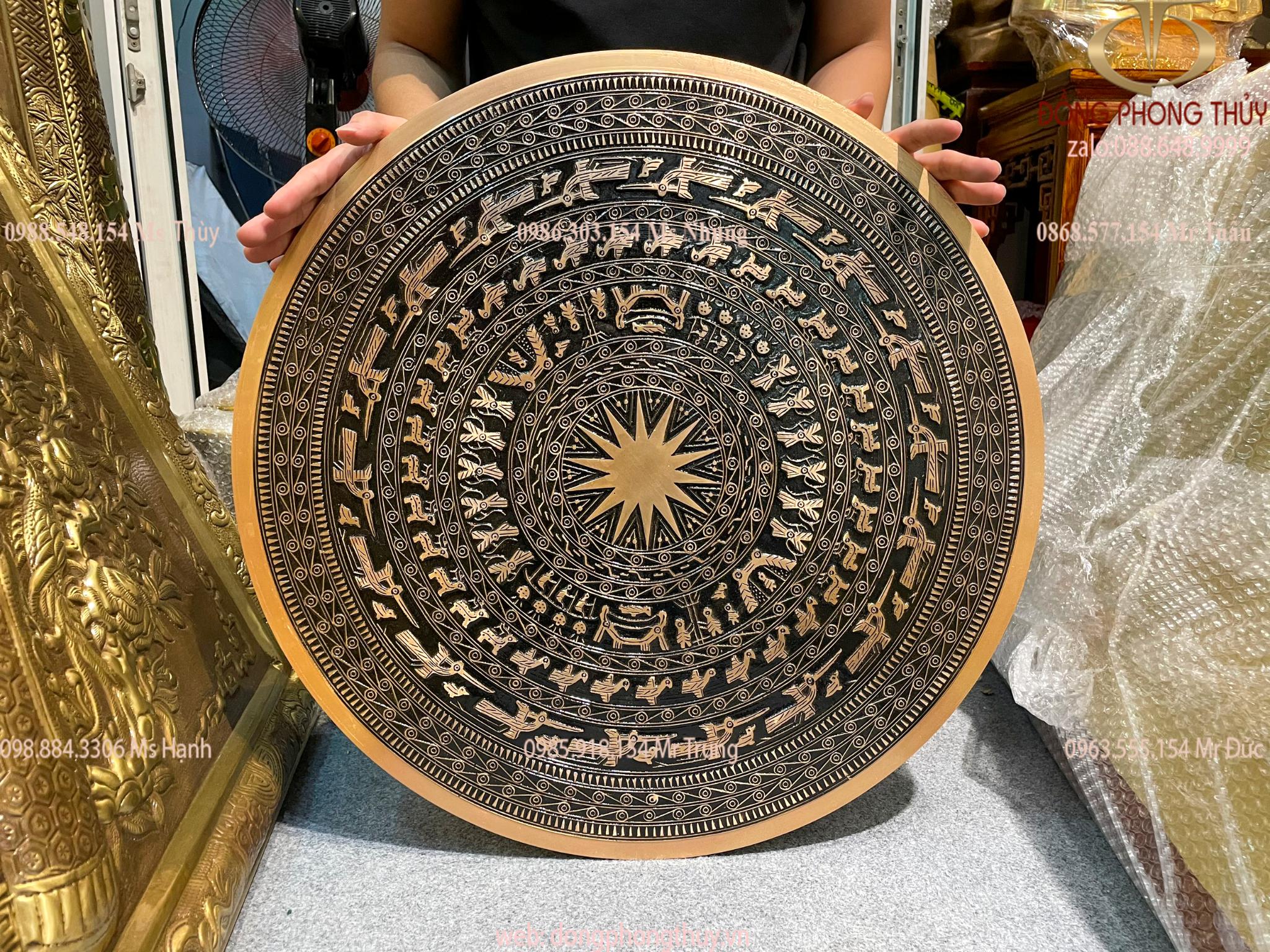 Mặt trống đồng đỏ 60cm nặng 12kg