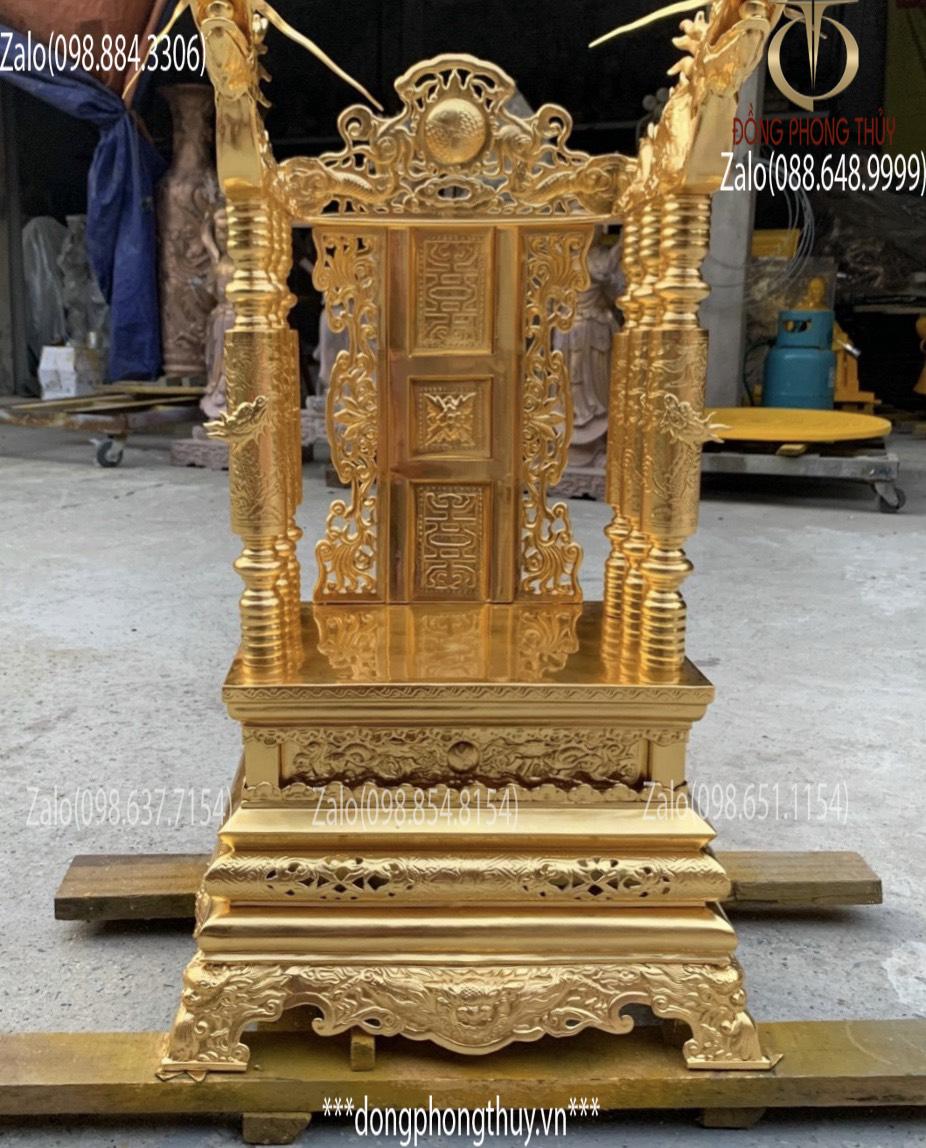 Ngai thờ đẹp - giá ngai thờ bằng đồng cao 81cm