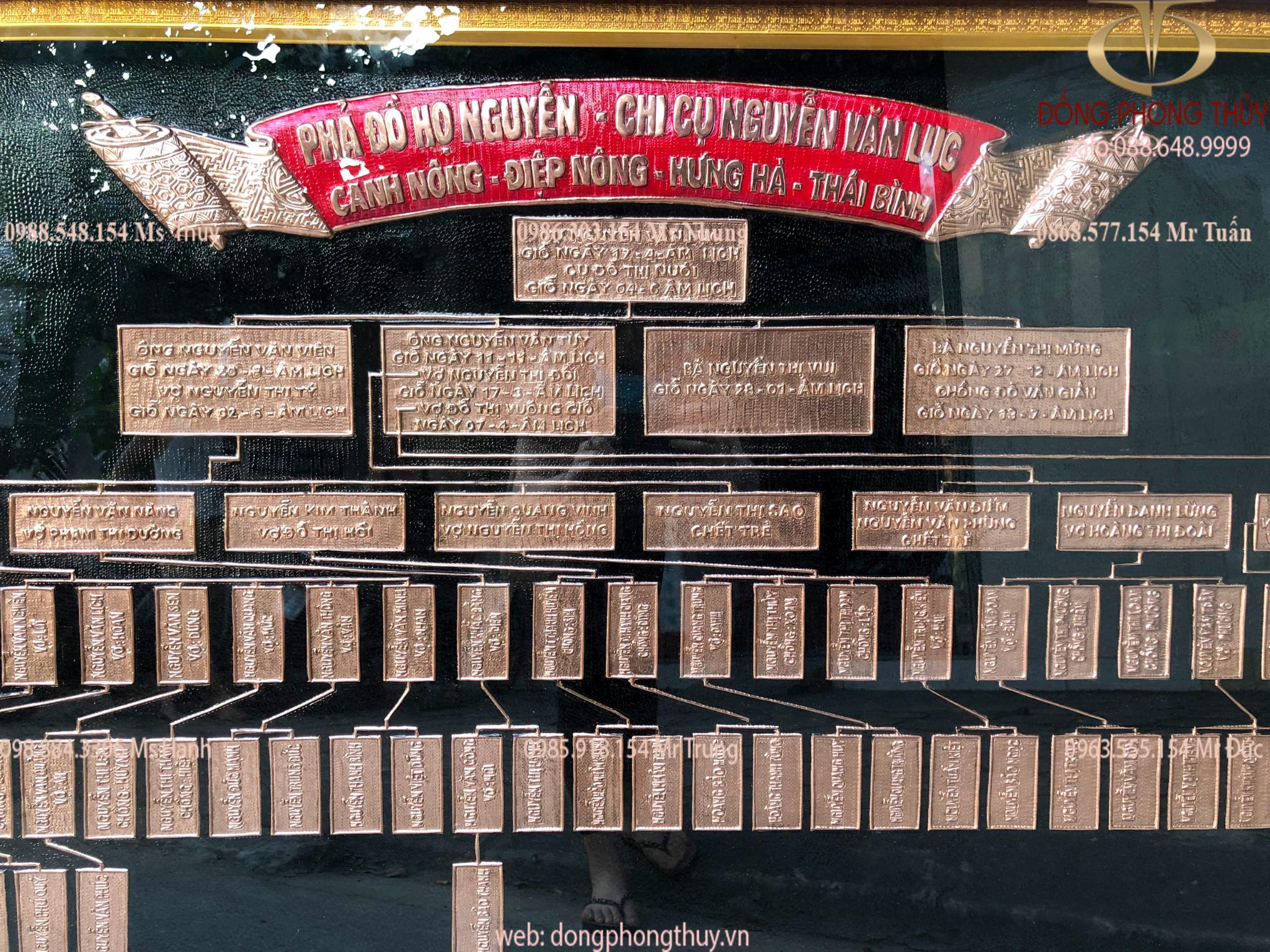 Gia phả họ Nguyễn - Phả đồ họ Nguyễn - Gia phả dòng họ Nguyễn bằng đồng đỏ