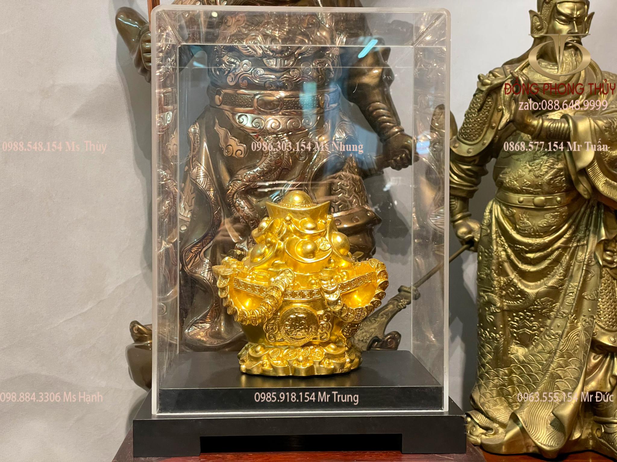 Thỏi vàng phong thủy bằng đồng phủ vàng 9999