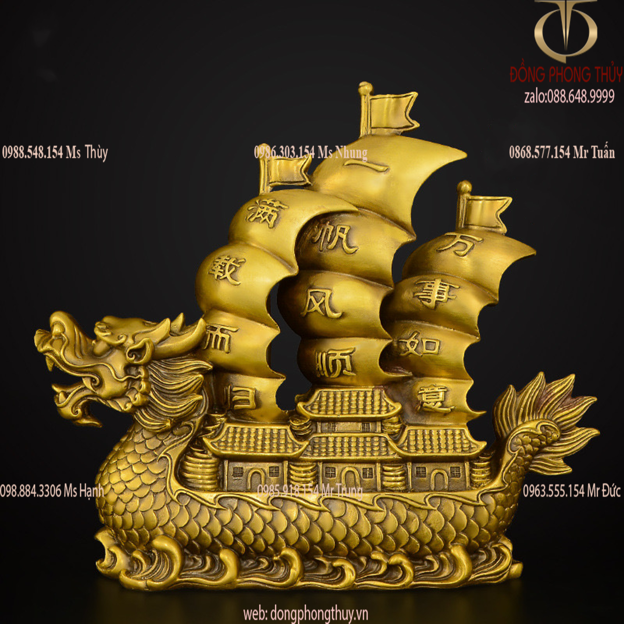 Thuyền buồm mô hình Rồng