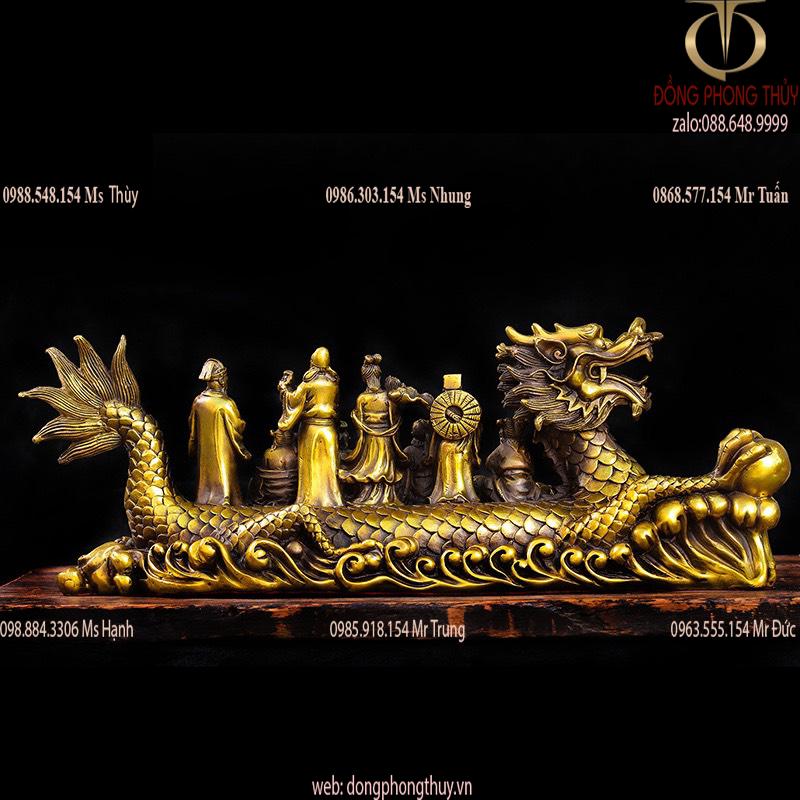 Thuyền rồng bát tiên bằng đồng