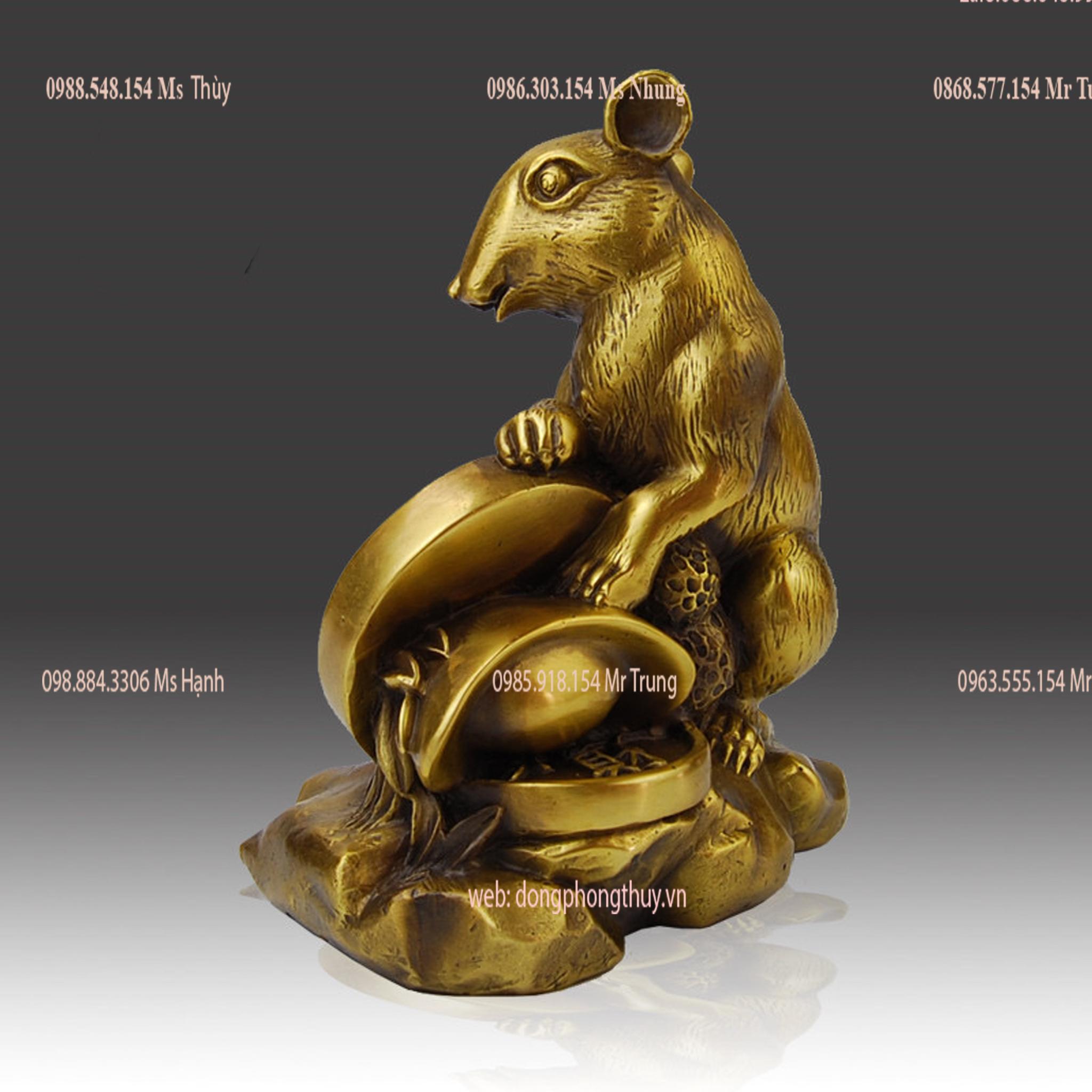 Tượng chuột phong thủy để bàn