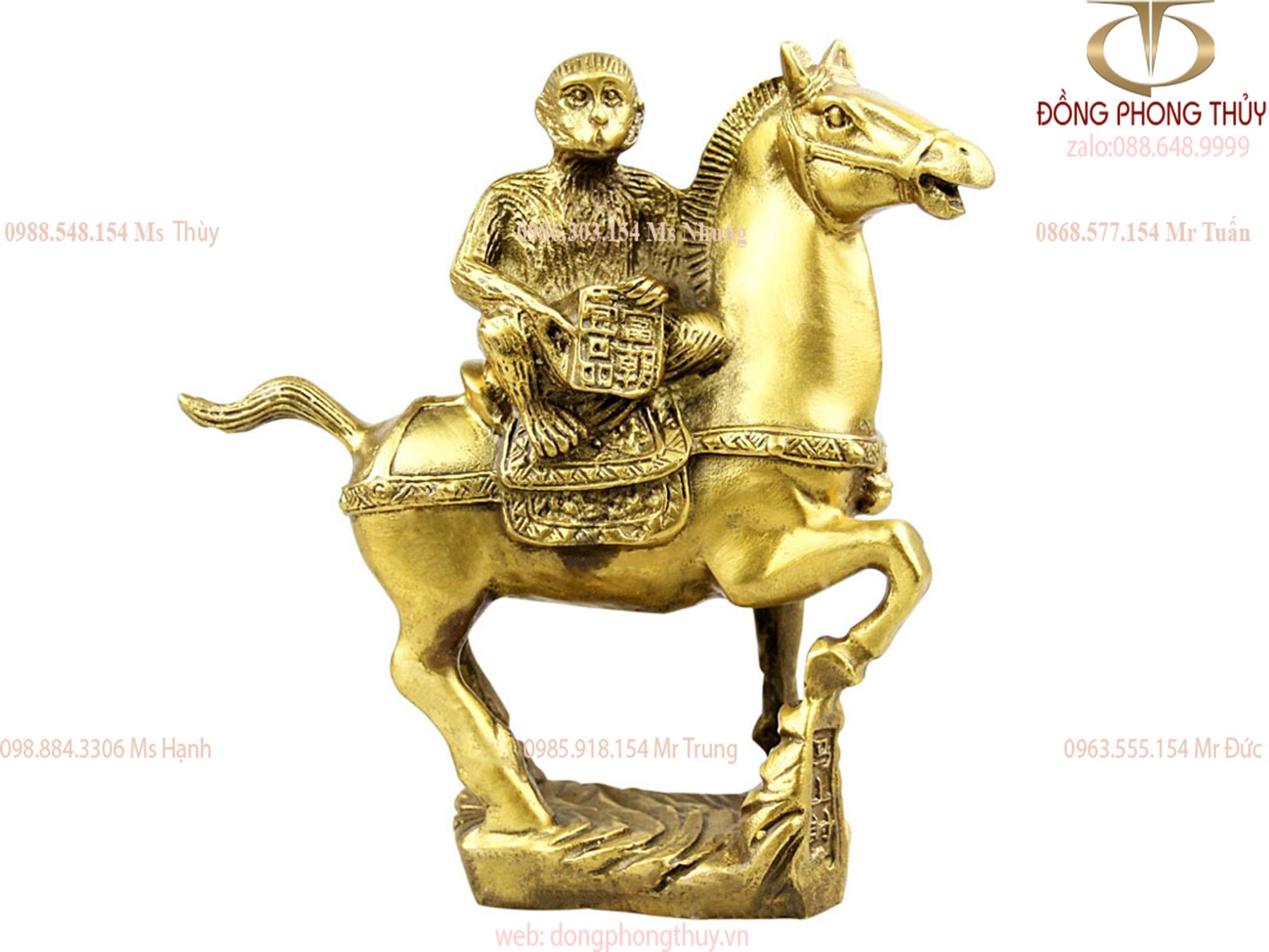 Tượng khỉ cưỡi ngựa mã thượng phong hầu