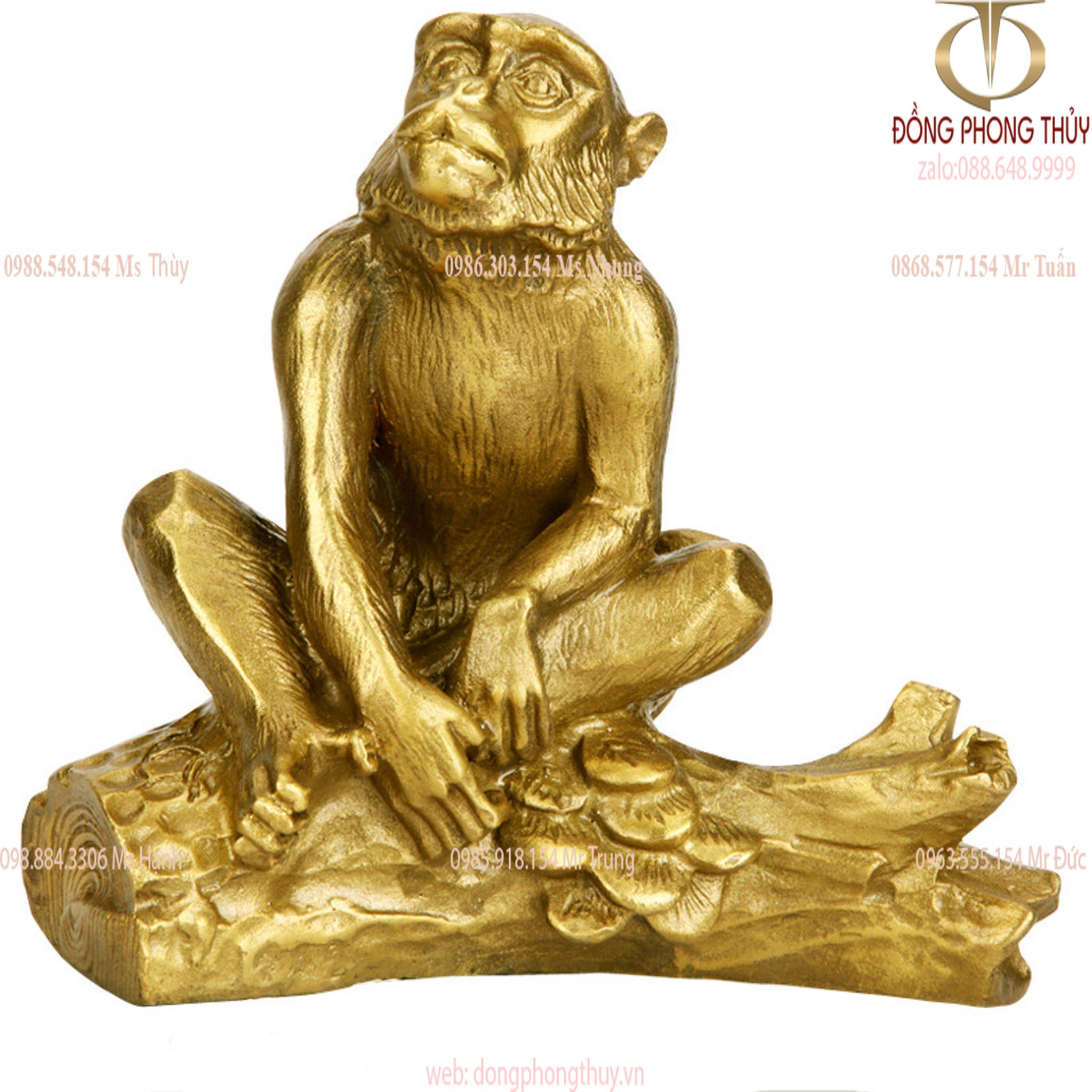 Tượng khỉ phong thủy bằng đồng